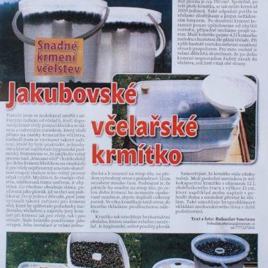 Jakubovské včelařské krmítko - článek v časopise včelařství